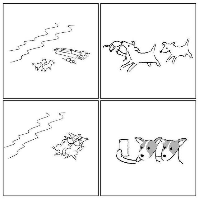 Художник з Китаю створює мінімалістичні комікси з несподіваною кінцівкою - фото 416123