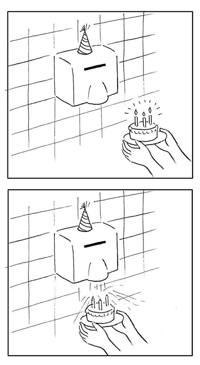 Художник з Китаю створює мінімалістичні комікси з несподіваною кінцівкою - фото 416124