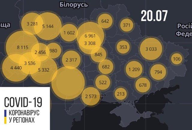 Новини про коронавірус в Україні: скільки хворих на Covid-19 станом на 20 липня - фото 416539