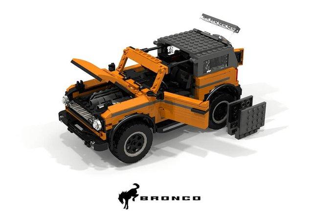 Позашляховик Ford Bronco 2021 зібрали з Lego - фото 416946