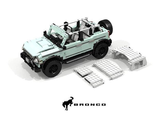 Позашляховик Ford Bronco 2021 зібрали з Lego - фото 416947