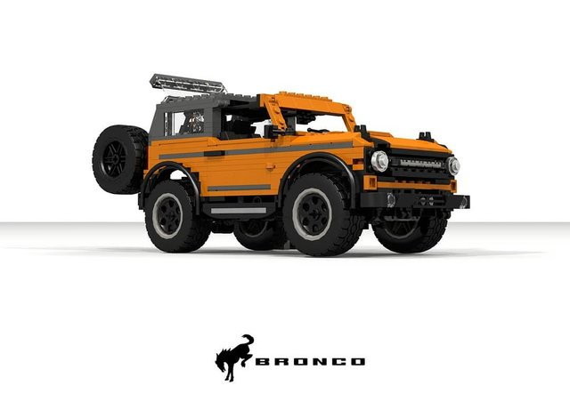 Позашляховик Ford Bronco 2021 зібрали з Lego - фото 416948