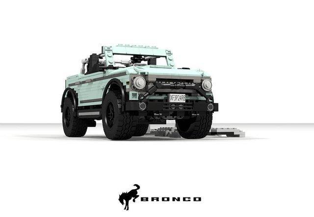 Позашляховик Ford Bronco 2021 зібрали з Lego - фото 416949
