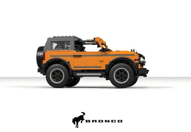 Позашляховик Ford Bronco 2021 зібрали з Lego - фото 416952