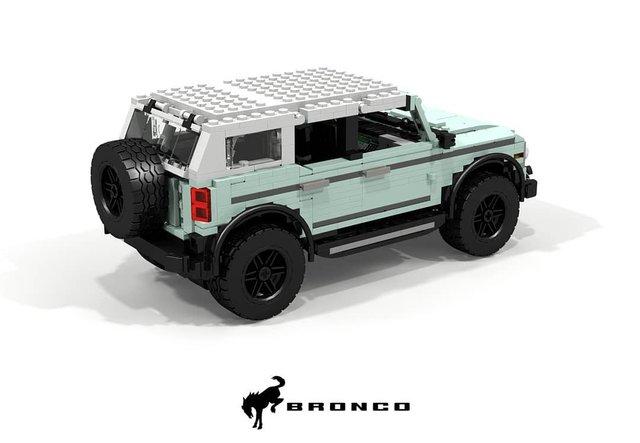 Позашляховик Ford Bronco 2021 зібрали з Lego - фото 416958