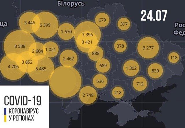 Новини про коронавірус в Україні: скільки хворих на Covid-19 станом на 24 липня - фото 417268