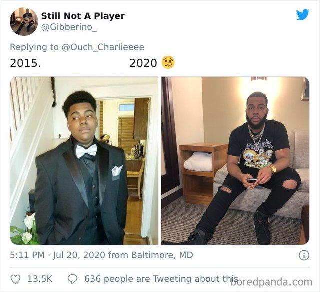 2015 vs 2020: люди показують вражаючі фотоколажі, як вони змінились за цей час - фото 417776