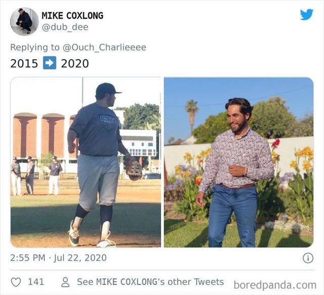 2015 vs 2020: люди показують вражаючі фотоколажі, як вони змінились за цей час - фото 417779