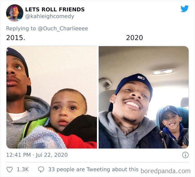 2015 vs 2020: люди показують вражаючі фотоколажі, як вони змінились за цей час - фото 417781
