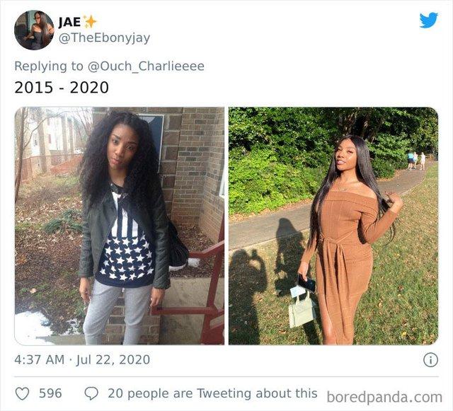 2015 vs 2020: люди показують вражаючі фотоколажі, як вони змінились за цей час - фото 417789