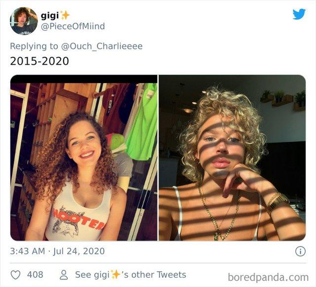 2015 vs 2020: люди показують вражаючі фотоколажі, як вони змінились за цей час - фото 417795