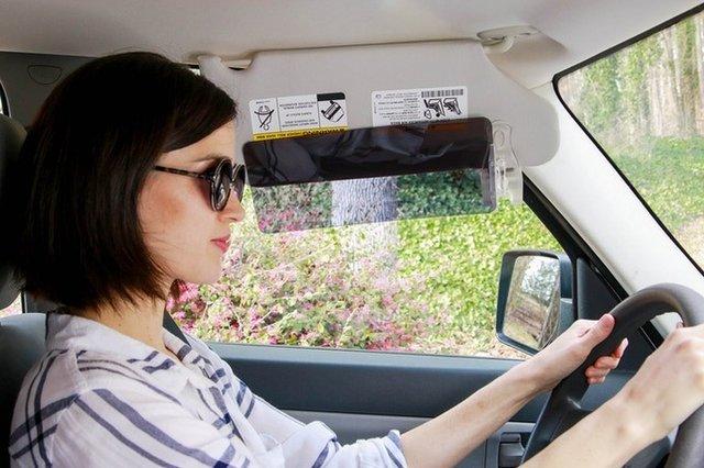 Винахідники придумали для водіїв простий спосіб уберегтися від сонячних променів - фото 417982