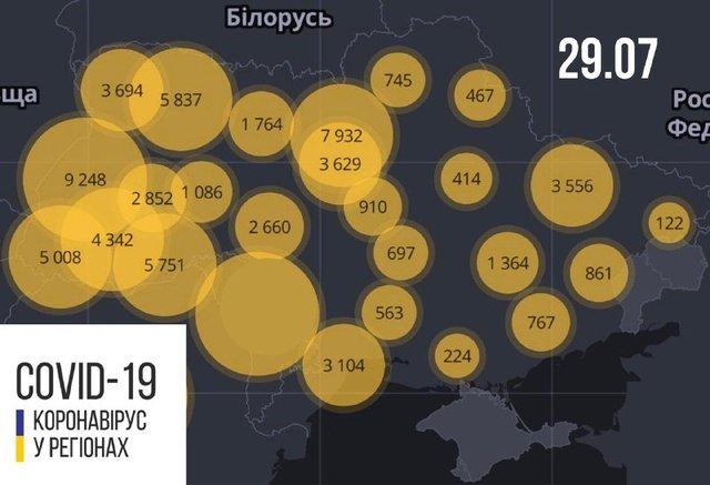 Новини про коронавірус в Україні: скільки хворих на Covid-19 станом на 29 липня - фото 418054
