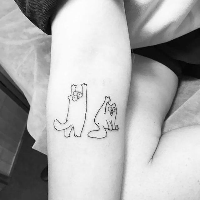 35 крутих тату з котами, які ви захочете зробити і собі: фотодобірка - фото 418109