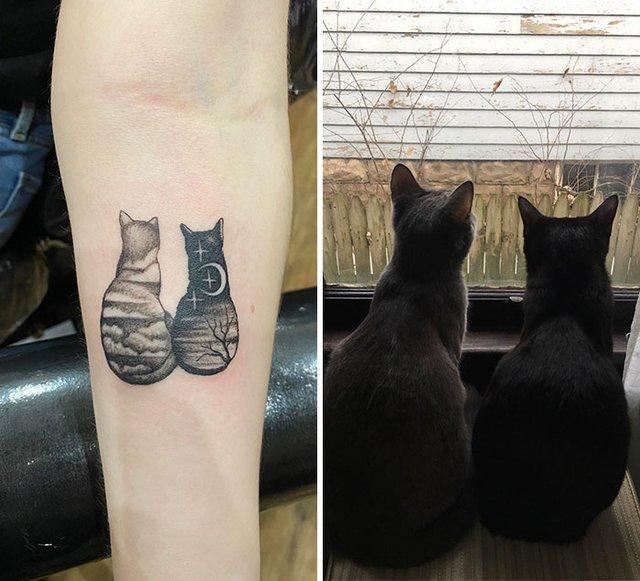35 крутих тату з котами, які ви захочете зробити і собі: фотодобірка - фото 418130