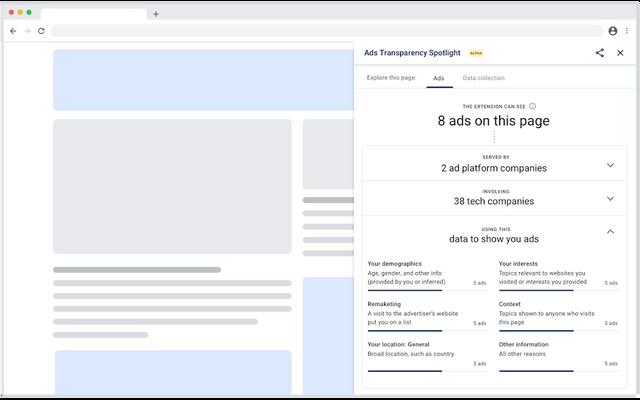 У Chrome з'явилося розширення, яке показує, чому користувач бачить конкретну рекламу - фото 418872