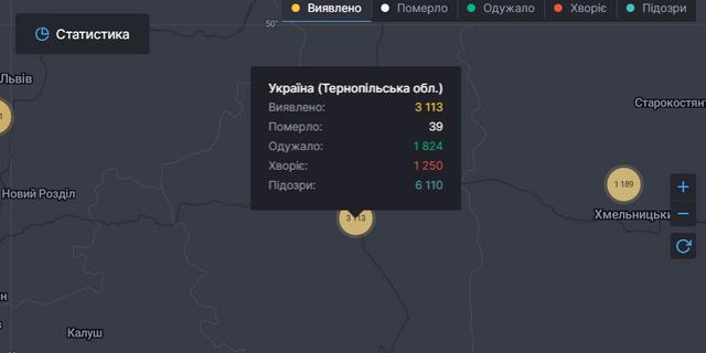 Скільки хворих на коронавірус на Тернопільщині - фото 418874
