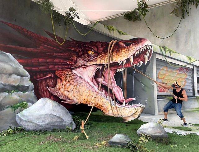 Художник довів, що вуличне мистецтво може бути по-справжньому яскравим: вражаючі фото - фото 420573