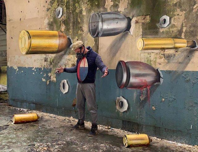 Художник довів, що вуличне мистецтво може бути по-справжньому яскравим: вражаючі фото - фото 420574