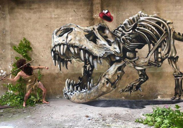 Художник довів, що вуличне мистецтво може бути по-справжньому яскравим: вражаючі фото - фото 420582
