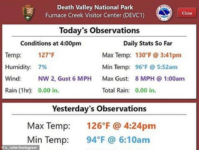 У Долині смерті температура піднялася до рекордних показників - фото 420636