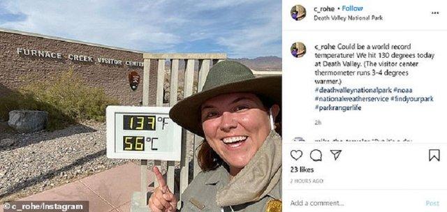У Долині смерті температура піднялася до рекордних показників - фото 420637
