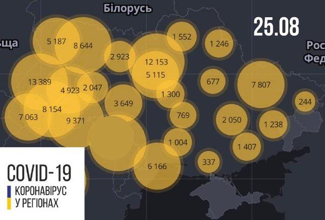Новини про коронавірус в Україні: скільки хворих на COVID-19 станом на 25 серпня - фото 421808
