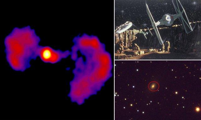NASA знайшло галактику у формі винищувача із Зоряних війн - фото 422379