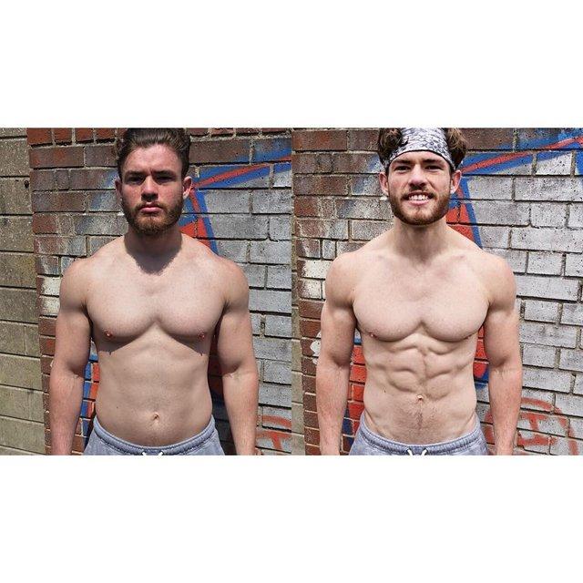 Хлопець-веган показав, як змінилося його тіло за чотири роки: ефектні кадри - фото 423735