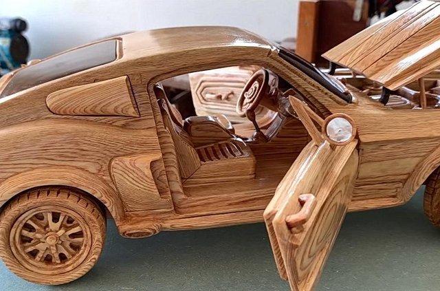 Як виглядає точна копія Ford Mustang 1967 року з дерева - фото 424179