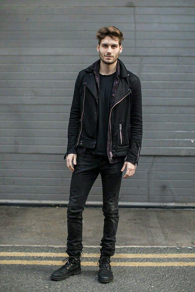 З чим носити чоловічу шкіряну куртку: стильні варіанти - фото 426832