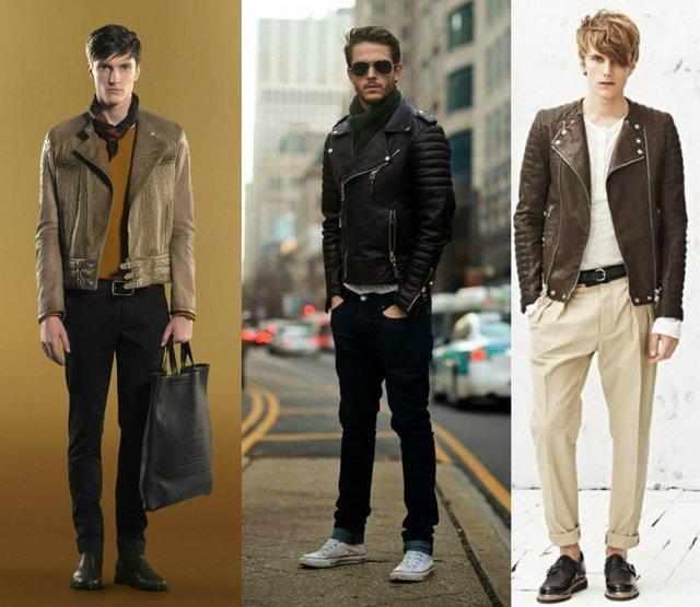 З чим носити чоловічу шкіряну куртку: стильні варіанти - фото 426833