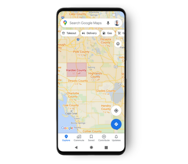 Google Maps будуть показувати кількість заражень COVID-19 у конкретному районі - фото 427299