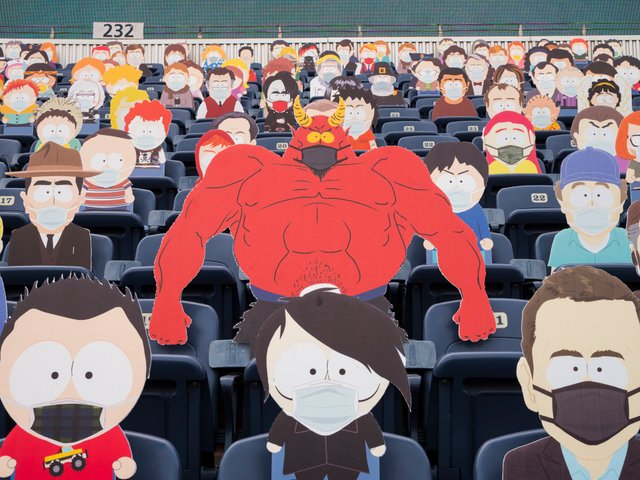 Команда з американського футболу заповнила трибуни персонажами Південного Парку: фото - фото 427704