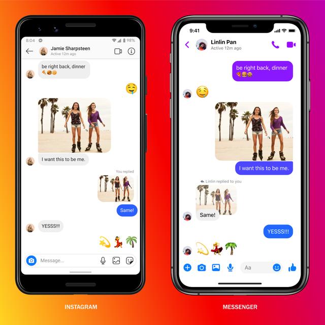 Facebook об'єднав чати Messenger і Instagram та додав нові функції: що змінилося - фото 428130