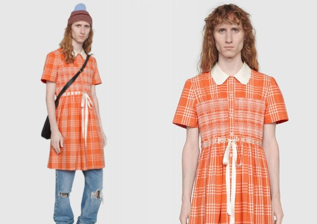 Модний будинок Gucci представив плаття для чоловіків: фото - фото 428637