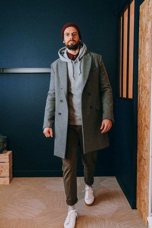 З чим носити чоловіче пальто: 10 стильних образів у фото - фото 430806