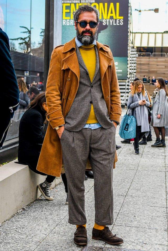 З чим носити чоловіче пальто: 10 стильних образів у фото - фото 430815