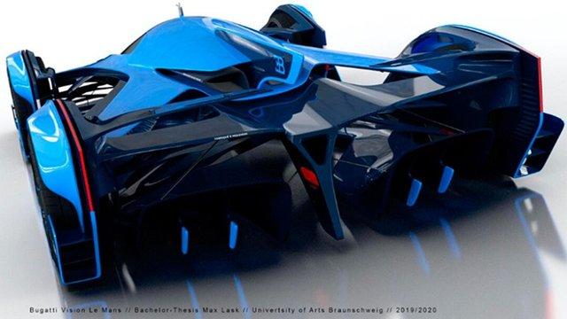 Bugatti заінтригували дизайном нового гіперкара - фото 431746