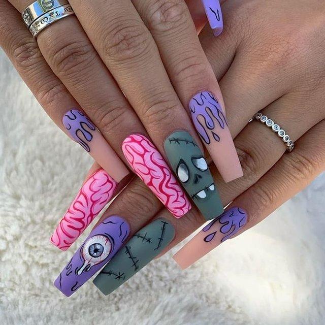 Манікюр на Хеловін 2020: модні тренди дизайну нігтів у фото - фото 432522