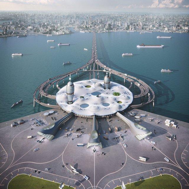 Японські архітектори показали туристичний космопорт майбутнього - фото 433983
