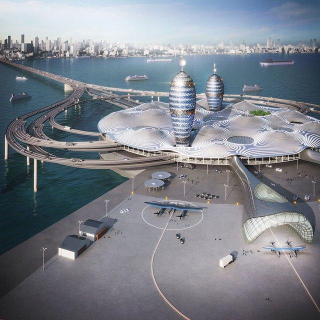 Японські архітектори показали туристичний космопорт майбутнього - фото 433984