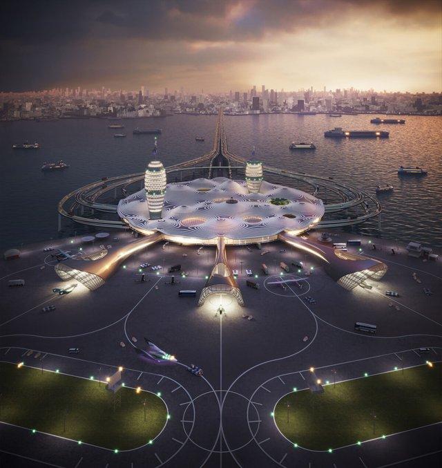 Японські архітектори показали туристичний космопорт майбутнього - фото 433985