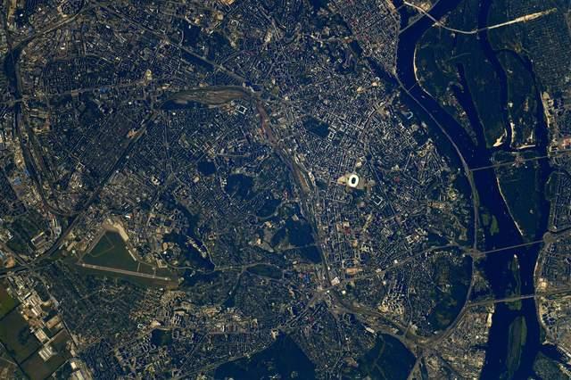 Київ вид з космосу
